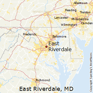 East_Riverdale,Maryland Map