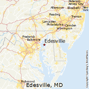 Edesville,Maryland Map