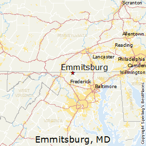 Emmitsburg,Maryland Map