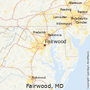 Fairwood,Maryland Map