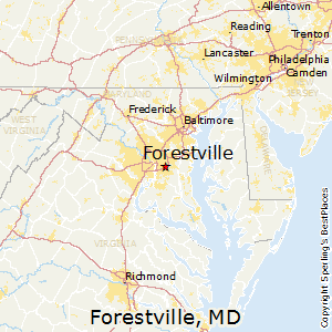 Forestville,Maryland Map