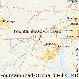 Fountainhead-Orchard_Hills,Maryland Map