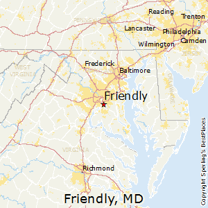 Friendly,Maryland Map