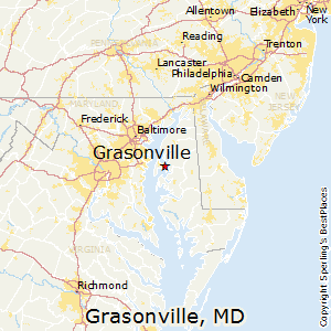 Grasonville,Maryland Map