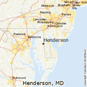 Henderson,Maryland Map