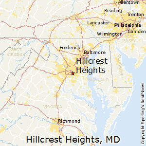 Hillcrest_Heights,Maryland Map
