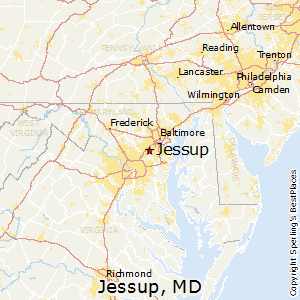 Jessup,Maryland Map