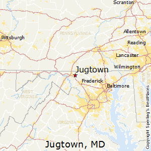 Jugtown,Maryland Map