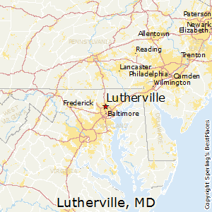 Lutherville,Maryland Map