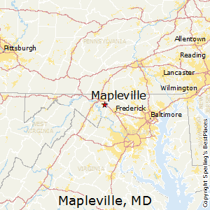 Mapleville,Maryland Map