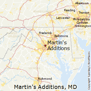 Martin's_Additions,Maryland Map