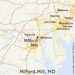 Milford_Mill,Maryland Map