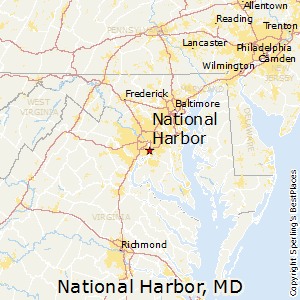 National_Harbor,Maryland Map