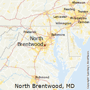 North_Brentwood,Maryland Map