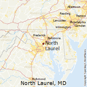 North_Laurel,Maryland Map