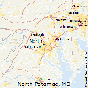 North_Potomac,Maryland Map