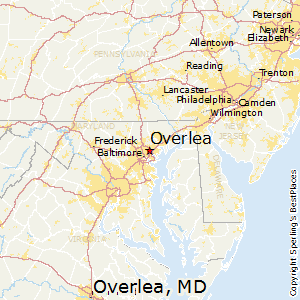 Overlea,Maryland Map