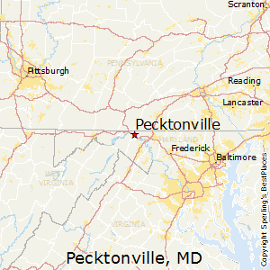 Pecktonville,Maryland Map