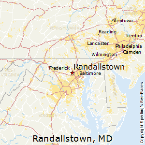 Randallstown,Maryland Map