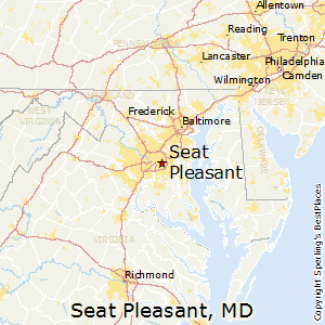 Seat_Pleasant,Maryland Map