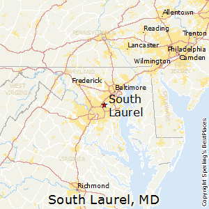 South_Laurel,Maryland Map