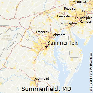 Summerfield,Maryland Map