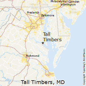 Tall_Timbers,Maryland Map