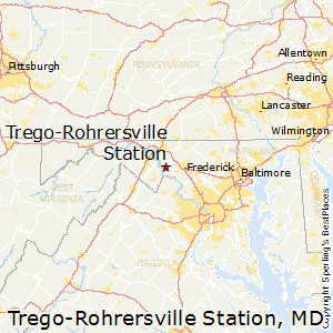 Trego-Rohrersville_Station,Maryland Map