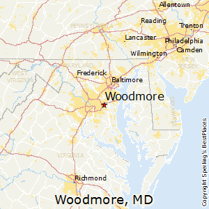 Woodmore,Maryland Map