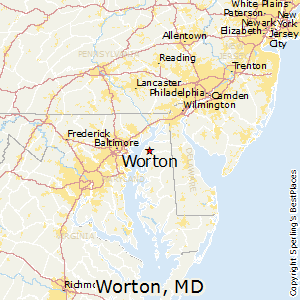 Worton,Maryland Map