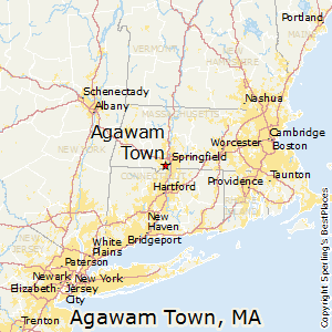 Agawam_Town,Massachusetts Map