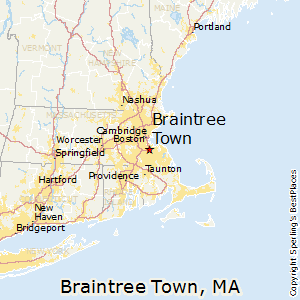 Braintree_Town,Massachusetts Map