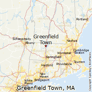 Greenfield_Town,Massachusetts Map