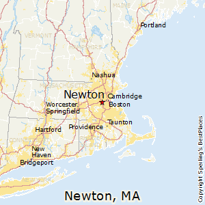 Newton,Massachusetts Map