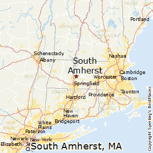 South_Amherst,Massachusetts Map
