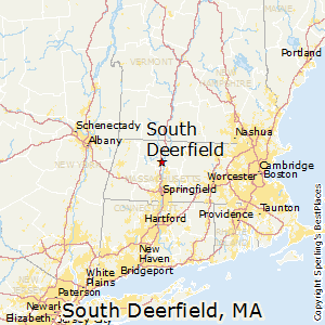 South_Deerfield,Massachusetts Map