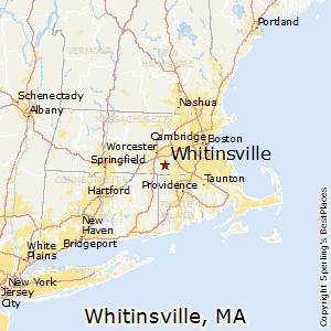 Whitinsville,Massachusetts Map