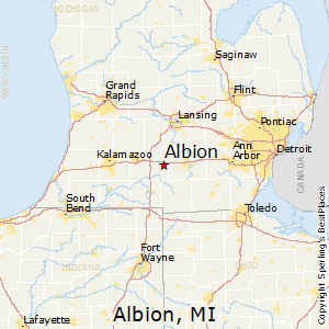 albionmichigan map