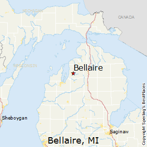 Bellaire,Michigan Map