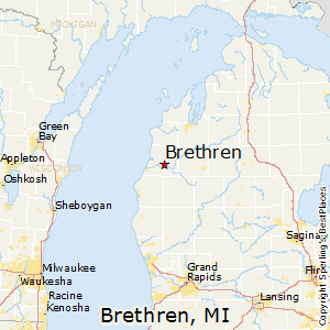Brethren,Michigan Map