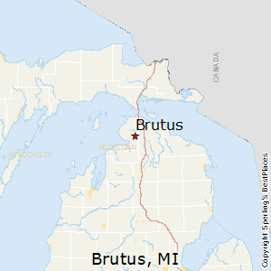 Brutus,Michigan Map