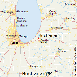 Buchanan,Michigan Map