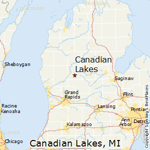 Michigan Map With Cities And Lakes.Comparison Mount Pleasant Michigan Canadian Lakes Michigan