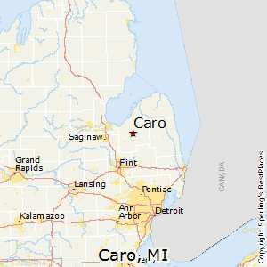 Caro,Michigan Map