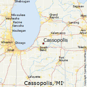 Cassopolis,Michigan Map