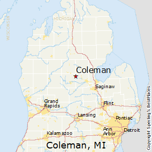 Coleman,Michigan Map