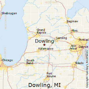Dowling,Michigan Map