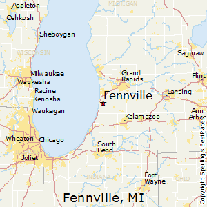 Fennville,Michigan Map