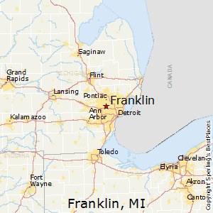 Best Places To Live In Franklin Michigan - Mi map