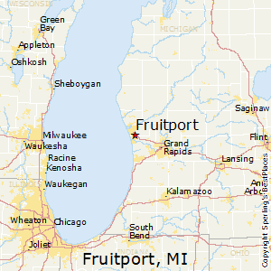 Fruitport,Michigan Map